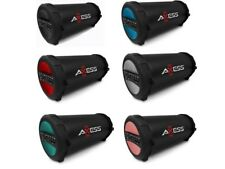 """AXESS SPBT1041 3"""" Rechargeable Cylinder Speaker +Bluetooth +USB/SD/AUX +FM Radio"""