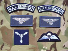 Royal Air Force/RAF Regiment NO1 Dress Jacket Titles,Para Wings+Eagle Badges Set