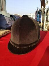 """Gatehouse Riding Showing Helmet Hickstead Black Velvet  6 3/4"""" 55 cm NEW w/case"""