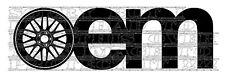 OEM BBS treillis CSL Jantes en Alliage Jantes Autocollant Vinyle Autocollant Design Graphique STANCE WHEELS