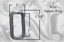 """30pcs - 1"""" Metal Square Ring - Nickel (SRG-108)"""