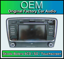 Skoda Superb Lettore CD auto stereo, Skoda Bolero 6 caricatore CD, TOUCHSCREEN SD in
