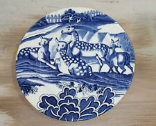 "Tiffany & Co Johnson Brothers Blue ""Tiffany Menagerie""  Plate - 8"" Vintage Deer"