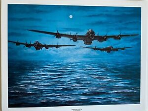 The Dambusters  Aviation art print Operation Chastise by Tony Sargeant.Lancaster