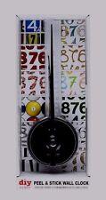 BNIB DIY Peel & Stick Wall Clock Choose From 12 Fun Number Sets (Enclosed)