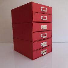 Fichier casier classement rangement bureau 3 éléments art déco vintage XXe PN