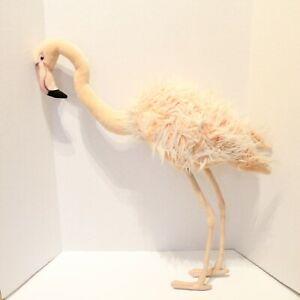 Hansa Extra Large Life Size Flamingo 3261 Pink 32.75'' Tall Plush Life Like