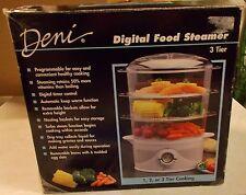 DENI 3 TIER DIGITAL FOOD STEAMER NIP 7550 PROGRAMMABLE EASY COOKING