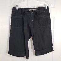 NORI Size 9 Black Long Bermuda Shorts Juniors Womens Stretch Machine Washable
