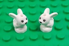 *NEW* Lego White Small Bunny Rabbits Friends Animals Pets - 2 pieces