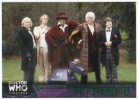 2016 Topps Doctor Who Timeless Green Foil Parallel #30 The Five Doctors