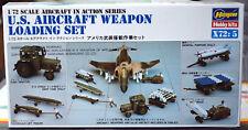 US Aircraft Weapon Loading Set Flugzeug Deck Mannschaft 1:72 Hasegawa 35005