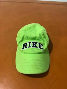 Boys Kids Nike Neon Green Adjustable Baseball Golf Cap Hat Size 4-7