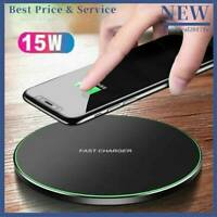 15W Qi Wireless Charger Fast Charging Mat Metal For iPhone 8 X 11 Max Samsung S9