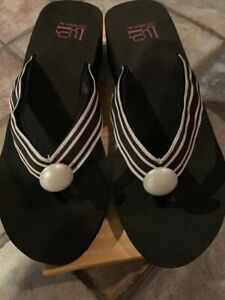 Switchflops TAYLOR-Black Wedge-Changeable Straps New in the Box!! Asst Sizes