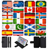 WORLD FLAGS Grunge Wallet Flip Phone Case Cover iPhone 4 5 SE 6 7 8 X comp