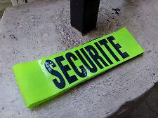 BRASSARD TISSU JAUNE SECURITE FERMETURE SCRATCH ARMBAND
