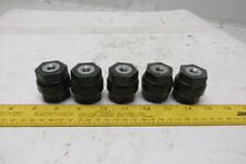 Black Glastic Style Composite Electrical Stand Off Isolator Insulator Lot Of 5