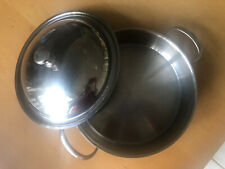 High Quality German STAINLESS STEEL Casserole Round With Lid 25 cm
