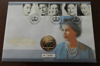 GB QEII PNC COIN COVER 2002 GOLDEN JUBILEE £5 COIN B/UNC ROYAL MINT