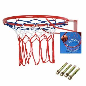 """Outdoor Indoor 18"""" 45cm Basketball Ring Hoop Net Full Size Wall Mounted Hanging"""