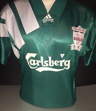 Signed Retro Liverpool Centenary Away Shirt Adidas by John Barnes