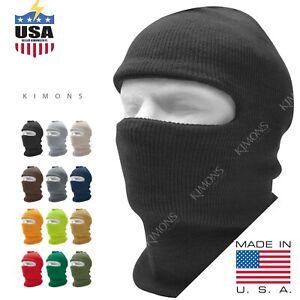 One 1 Hole Ski Full Face Mask Winter Cap Balaclava Hood Beanie Tactical Mask hat