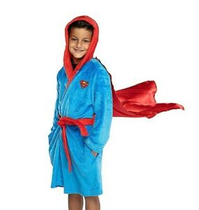 Superman Boys Red And Blue Robe with Cape Size XL 14-16 Pjammy NEW NWT