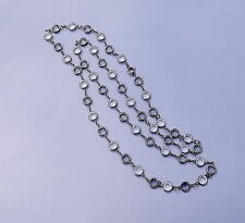 """Vintage Riviere Necklace Faceted Clear & Smoky Crystal Stones 36"""" long"""