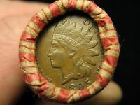 ESTATE COINS LINCOLN CENT PENNY ROLL AU 1895 INDIAN HEAD / IHC REVERSE ENDS 181A