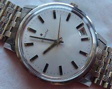 Zenith Automatic Date mens wristwatch Steel case & NSA bracelet 36,5 mm. NOS