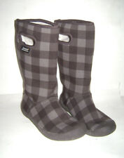 BOGS BOYS GIRLS YOUTH WARM BOOTS SHOES WATERPROOF SNOW HIKING size US 1 BROWN