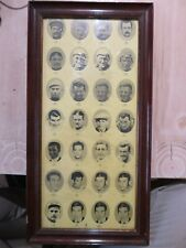 Tour de France Vintage framed poster 1972 yellow jersey winners true the years