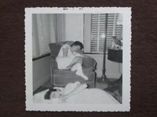 YOUNG GIRL SLEEPING IN A CHAIR AT A SLUMBER PARTY Vintage 1957 PHOTO