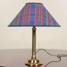 Vintage Brass Table Lamp Brass Tartan Library Lamp