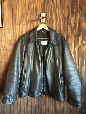 """Taylor's Leatherwear Police Leather Jacket Mens 46 """"MADE IN USA"""""""