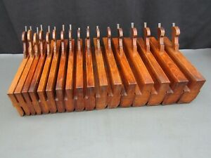 Half set 17 wooden moulding planes hollow & round old tool by W Parkes