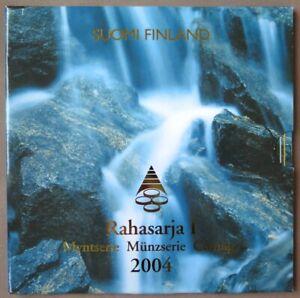 FIX2004.1 - COFFRET BU FINLANDE - 2004 - 1 cent à 2 euros + médaille