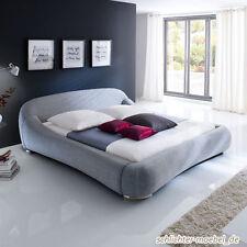 PALOMA Polsterbett Stoffbett Stoffbezug Design Bett - 160x200 Grau