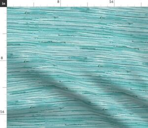 Aqua Teal Turquoise Room Grass Blue Beach House Spoonflower Fabric by the Yard