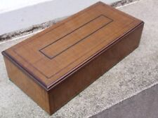 VINTAGE WORK WOOD DESK TIDY TRINKET CUFFLINK BOX