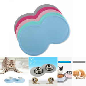 Silicone Pet Feeding Mat NonSlip Easy Clean Food Feed Dish-Bowl-Placemat-Dog-Cat