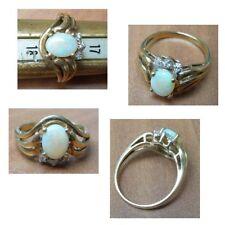 Opal Ring grün rot blau Vollopal 333 Gold 8 Karat Gelbgold