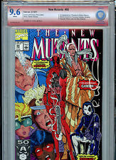 New Mutants #98 Marvel VSP CBCS 9.6 Check NM+ Red Label Signed Rob Liefeld 1991
