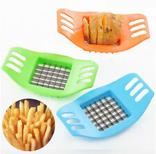 New French Potato Chip Cut Cutter Vegetable Fruit Slicer Chopper Chipper Stripe