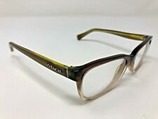 Coach Eyeglasses Frame HC6089 5400 49-16-135 Olive/Brown Translucent EA98