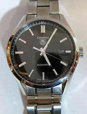 TAG Heuer Carrera WV211B-3 Calibre 5 39mm Stainless Steel Wrist Watch with Box!