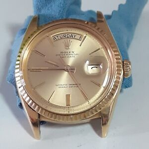 Vintage Rolex Day-Date 18K Yellow Gold Automatic Head Only Watch 1803 Circa 1966