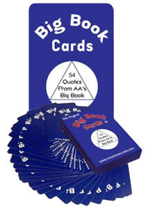 +Big Book Cards  AA/12 Step Recovery Program