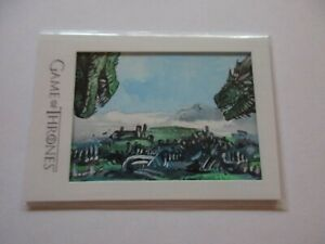 2020 Game of Thrones The Complete Series Archive Box Framed Color Sketch Card F2